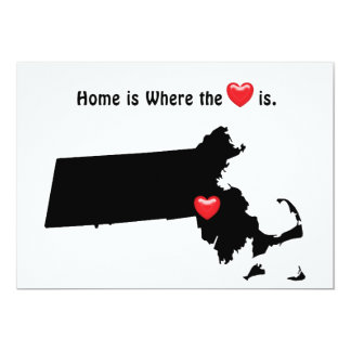 Home is Where the Heart MASSACHUSETTS Card