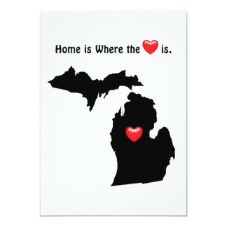 Home is Where the Heart MICHIGAN Card