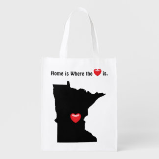 Home is Where the Heart MINNESOTA Reusable Grocery Bag
