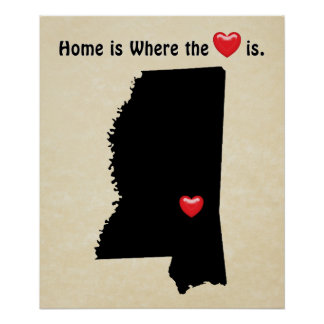 Home is Where the Heart MISSISSIPPI Poster