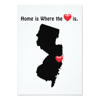 Home is Where the Heart NEW JERSEY 5x7 Paper Invitation Card