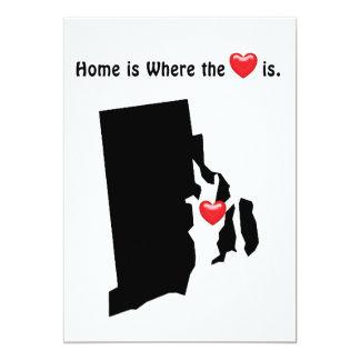 Home is Where the Heart RHODE ISLAND Card