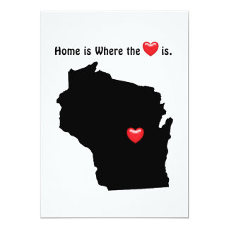 Home is Where the Heart WISCONSIN Card
