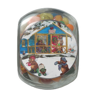 Home is Where the Honey is Candy Jar Glass Candy Jar