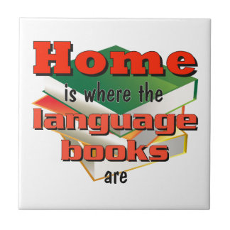 Home is where the language books are tile