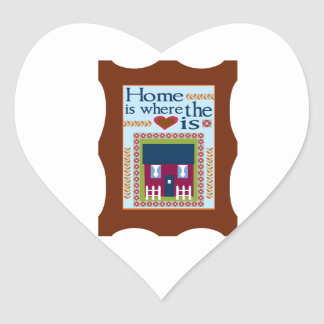 Home Is Where The Love Is Heart Stickers