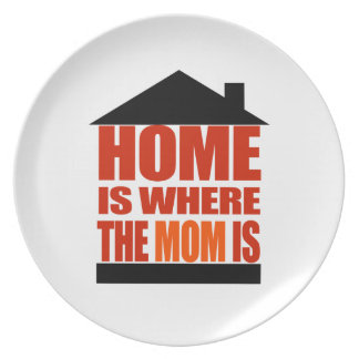 Home is where the Mom is Party Plate
