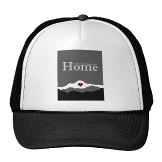 Home is Where the Mountains Are in Gray Trucker Hat