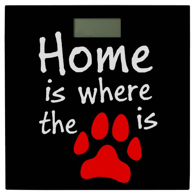 Home is where the paw print is - Black