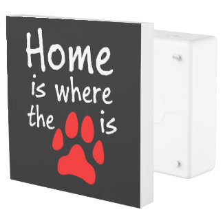 Home is where the paw print is Black Outlet Cover