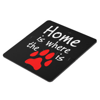 Home is where the paw print is puzzle coaster