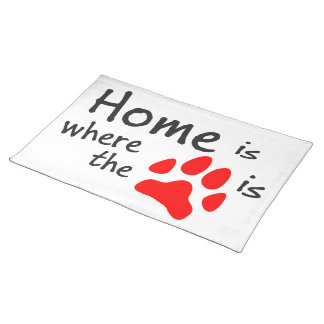 Home is where the paw print is cloth placemat