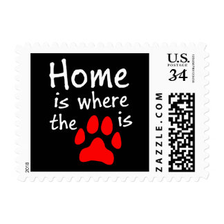 Home is where the paw print is postage