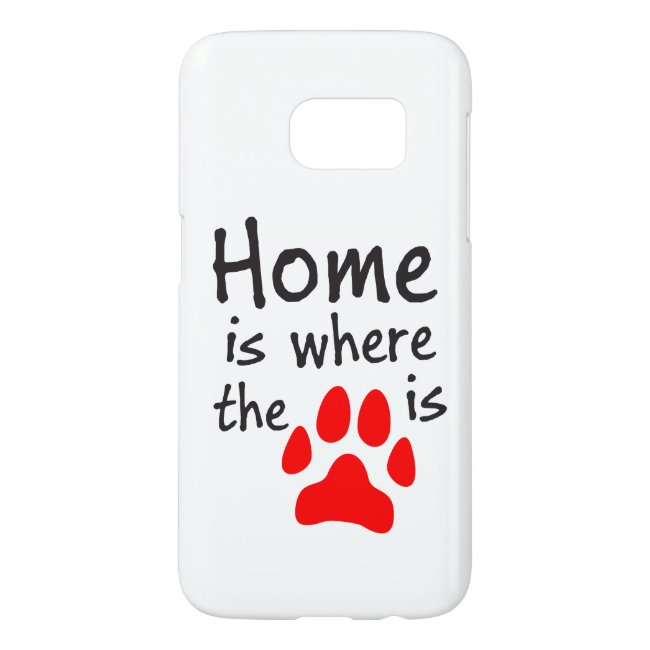 Home is where the paw print is White