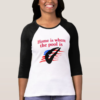 HOME IS WHERE THE POOL IS DIVING DESIGN T-Shirt