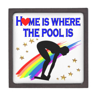 HOME IS WHERE THE POOL IS FOR THIS SWIMMER GIFT BOX