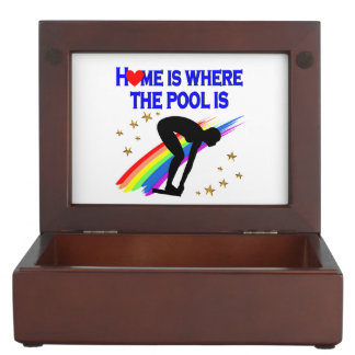 HOME IS WHERE THE POOL IS FOR THIS SWIMMER MEMORY BOX