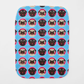 Home Is Where The Pug Is Baby Burp Cloth