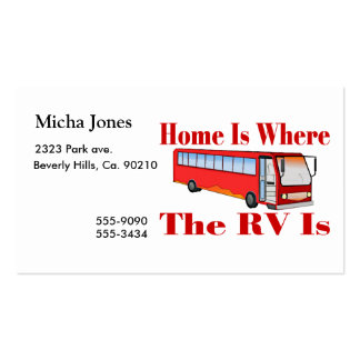 Home Is Where The RV Is Business Card