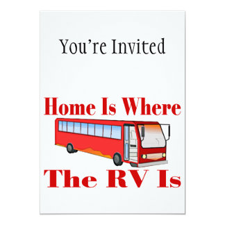 Home Is Where The RV Is Card