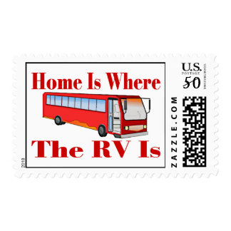 Home Is Where The RV Is Postage