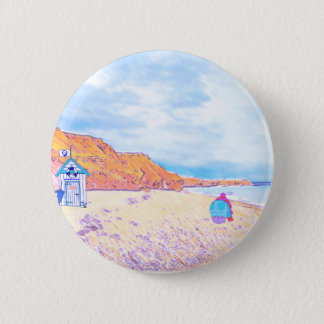 Home is where the Seaglass Is - Seaham England Button