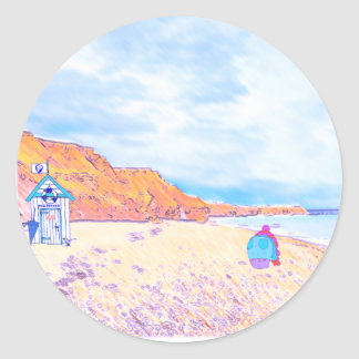 Home is where the Seaglass Is - Seaham England Classic Round Sticker