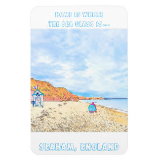 Home is where the Seaglass Is - Seaham England Magnet
