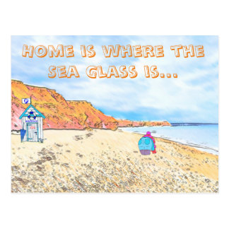 Home is where the Seaglass Is - Seaham England Postcard