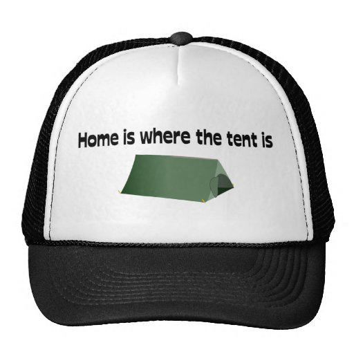 Home Is Where The Tent Is Mesh Hats