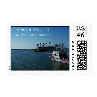 Home, Is Where The Water Meets the sky Postage Stamps