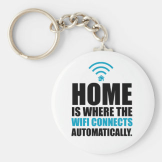 Home is Where the Wi-Fi Connects Automatically Keychain