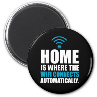 Home is Where the Wi-Fi Connects Automatically Magnet