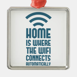 Home Is Where The WIFI Connects Automatically Christmas Ornament