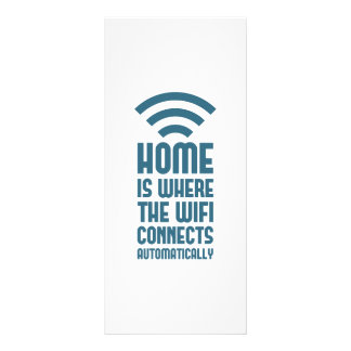Home Is Where The WIFI Connects Automatically Full Color Rack Card