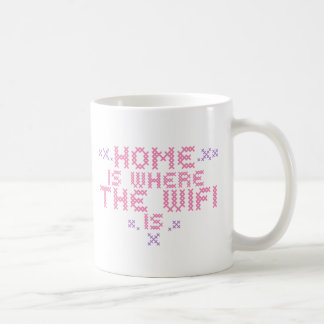 Home is where the wifi is coffee mug