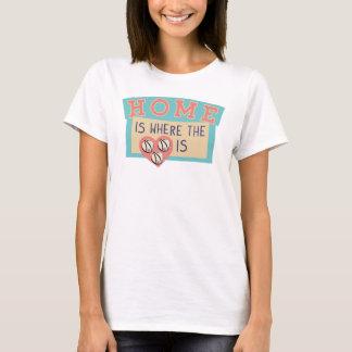 Home is where the zebra dome is...womens tee shirt