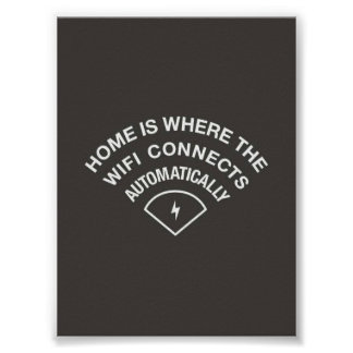 Home is where WiFi connects automagically Poster