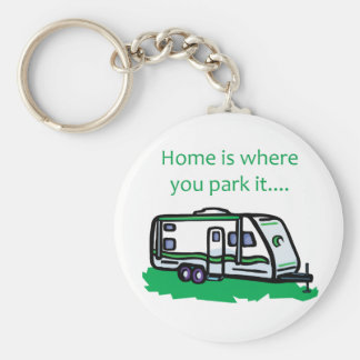 Home is where you park it. keychain