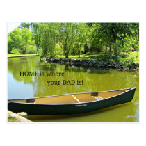 Home is where your Dad is! Postcard
