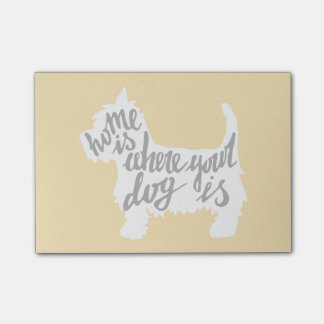 Home Is Where Your Dog Is Post-it Notes