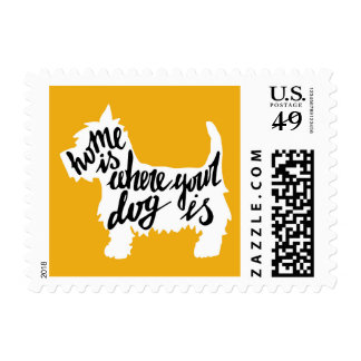 Home Is Where Your Dog Is Postage
