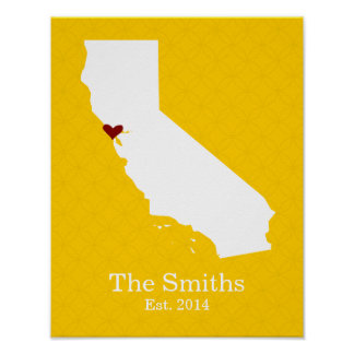 Home is Where Your Heart Is - California Poster