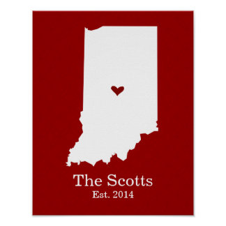 Home is Where Your Heart Is - Indiana Posters