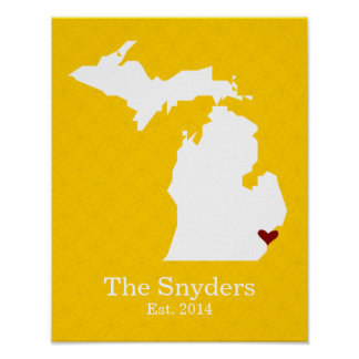 Home is Where Your Heart Is - Michigan Poster
