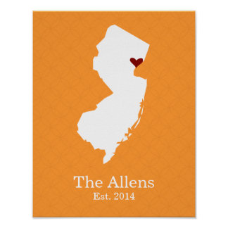 Home is Where Your Heart Is - New Jersey Poster
