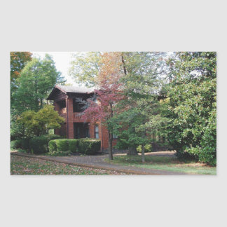 Home is where your heart is rectangular sticker