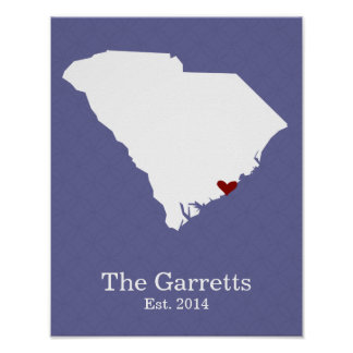 Home is Where Your Heart Is - South Carolina Posters