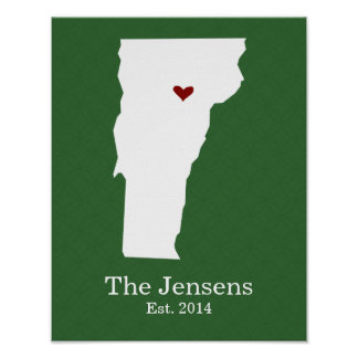 Home is Where Your Heart Is - Vermont Poster