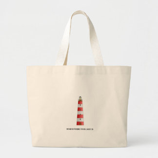 Home Is Where Your Light Is Large Tote Bag